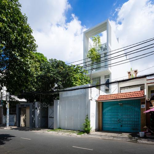 Ngôi nhà nằm trên một con đường nhỏ ở TP.HCM